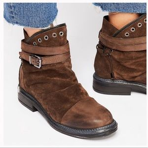 "New Free People ""Zac"" Brown Moto Ankle Boots"